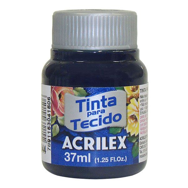 Tinta para Tecido Azul Marinho 37ml Acrilex  - INK House