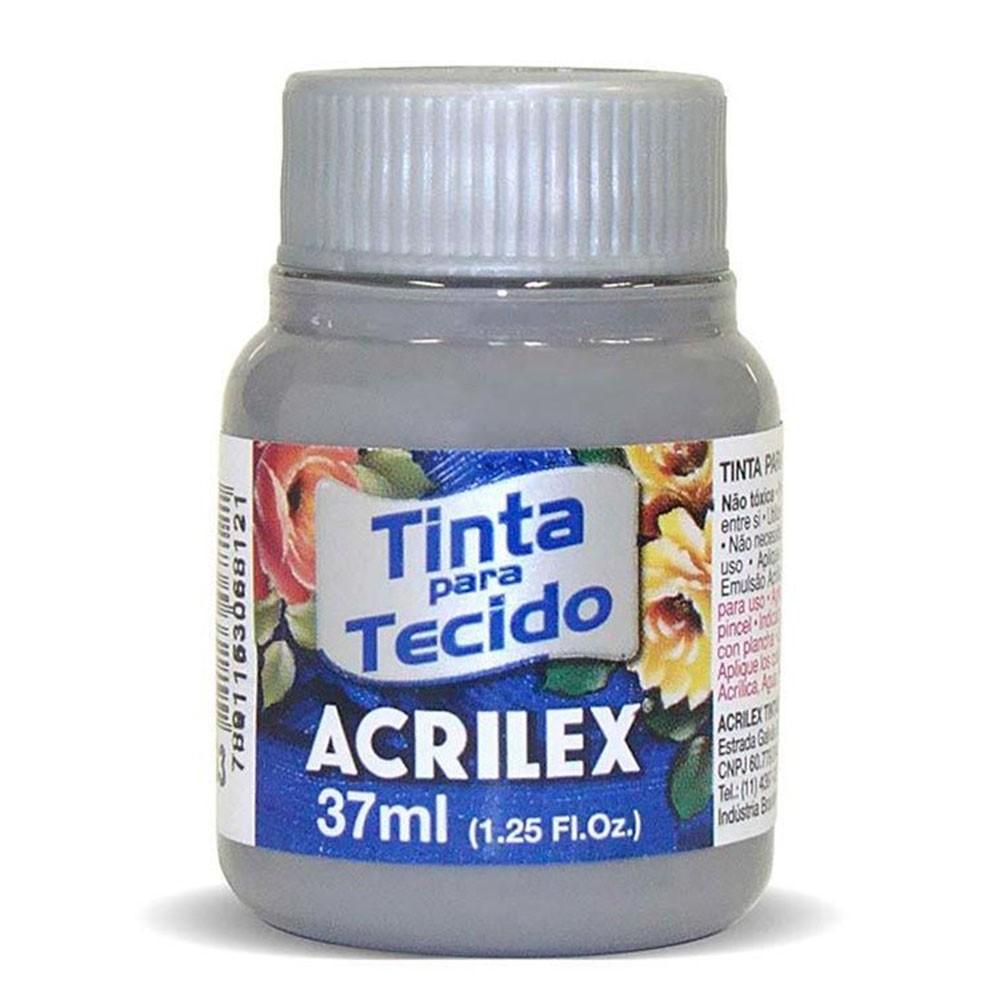 Tinta para Tecido Cinza 37ml Acrilex