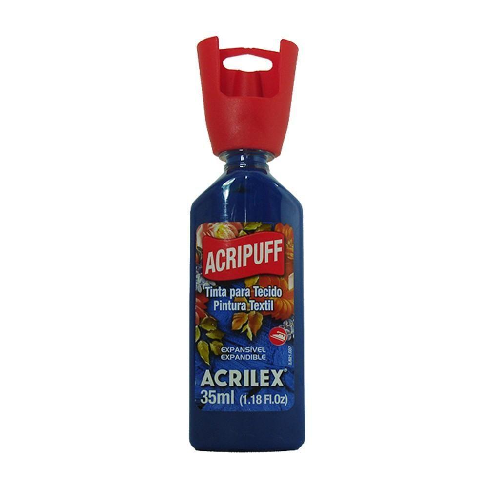 Tinta para Tecido Expansível Acripuff Azul Cobalto 35ml Acrilex
