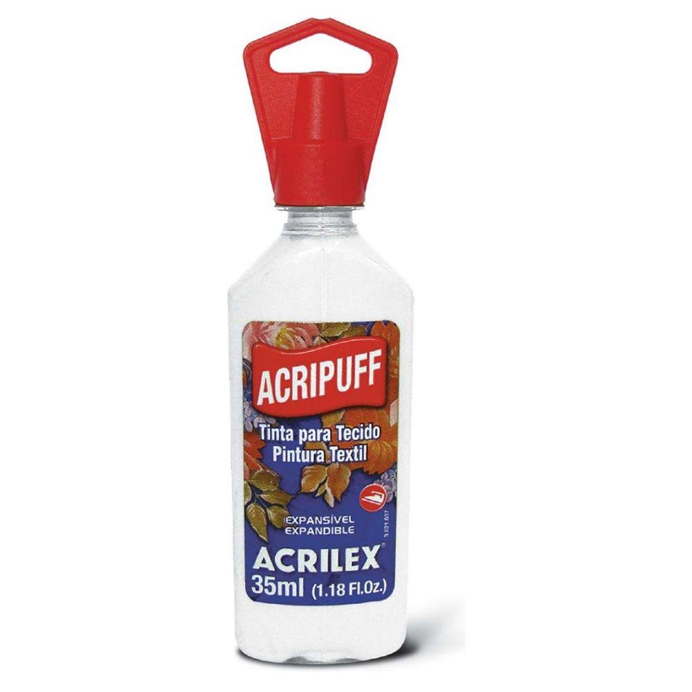 Tinta para Tecido Expansível Acripuff Branco 35ml Acrilex  - INK House