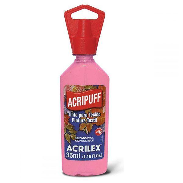 Tinta para Tecido Expansível Acripuff Rosa 35ml Acrilex