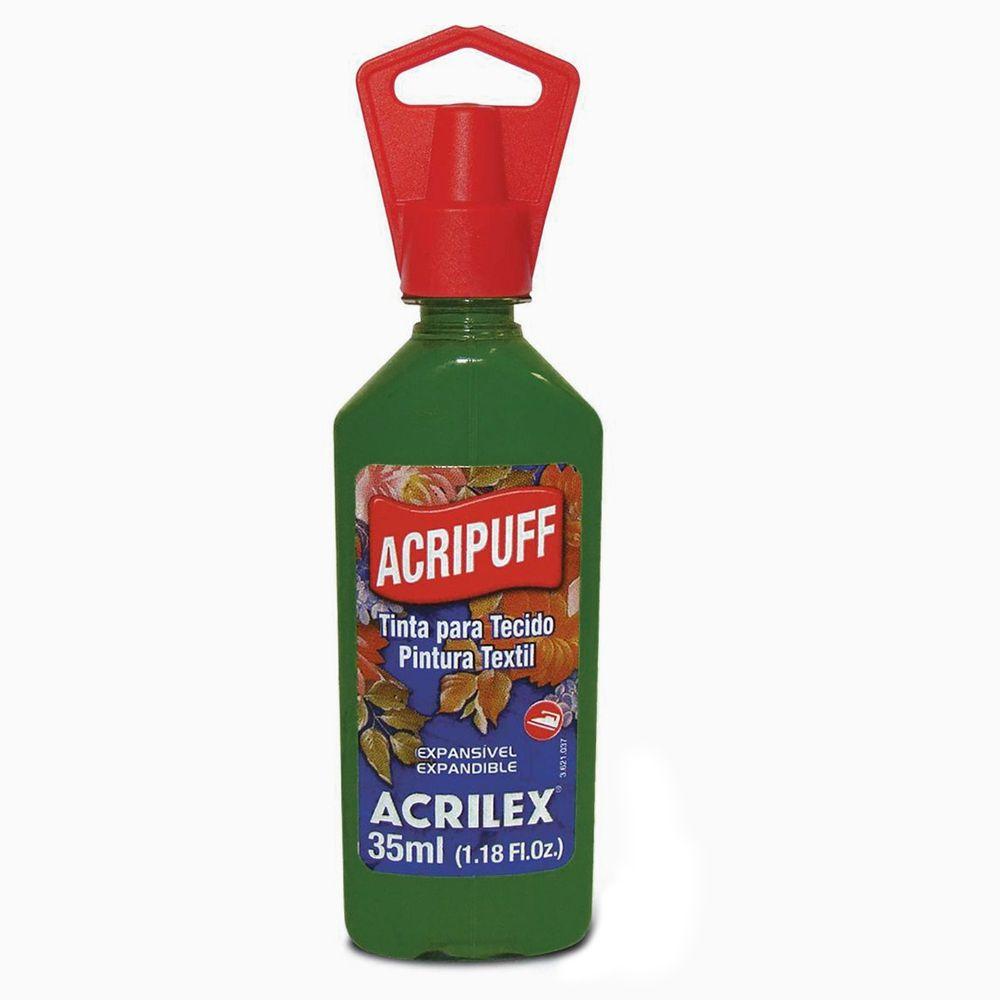 Tinta para Tecido Expansível Acripuff Verde Musgo 35ml Acrilex