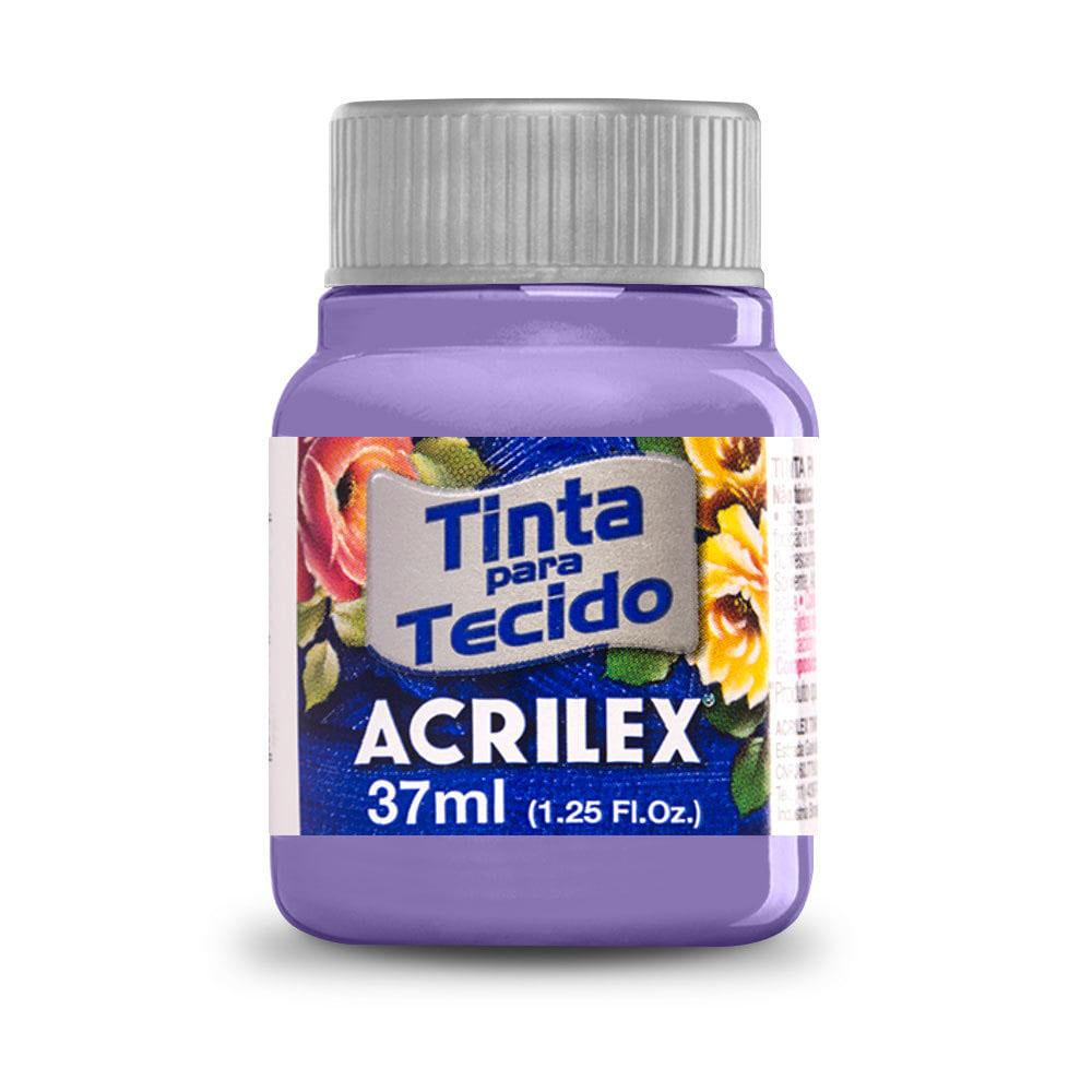 Tinta para Tecido Lilás 37ml Acrilex