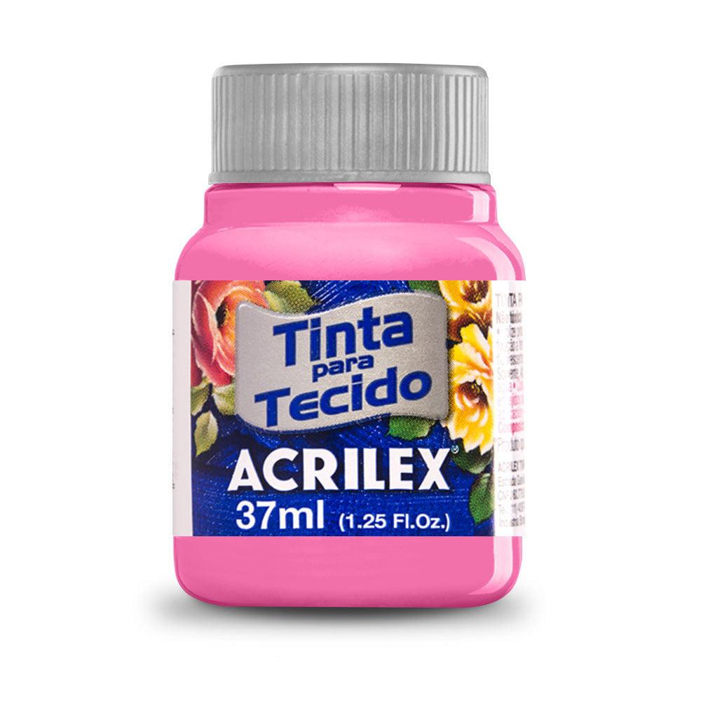 Tinta para Tecido Rosa 37ml Acrilex
