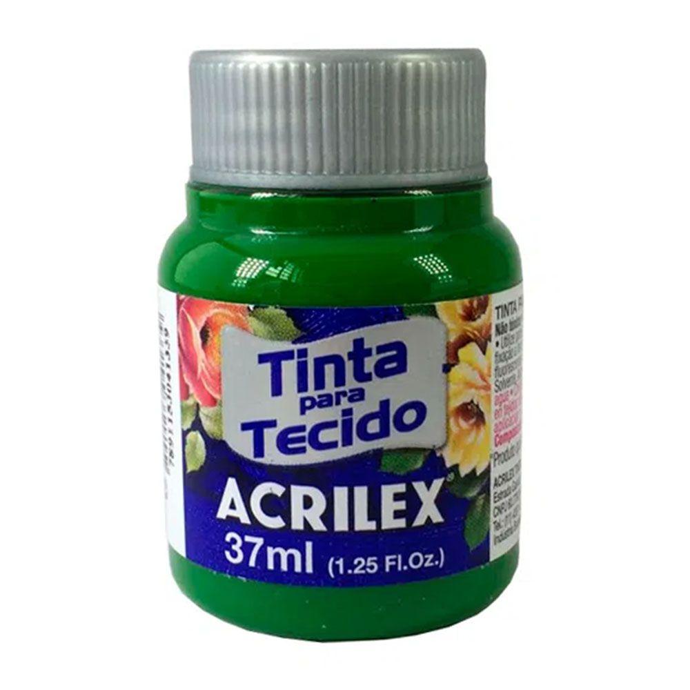 Tinta para Tecido Verde Musgo 37ml Acrilex