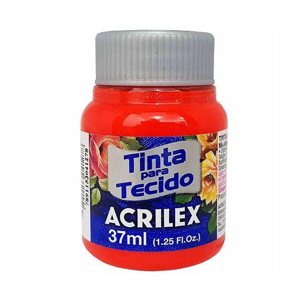 Tinta para Tecido Vermelho Fogo 37ml Acrilex  - INK House