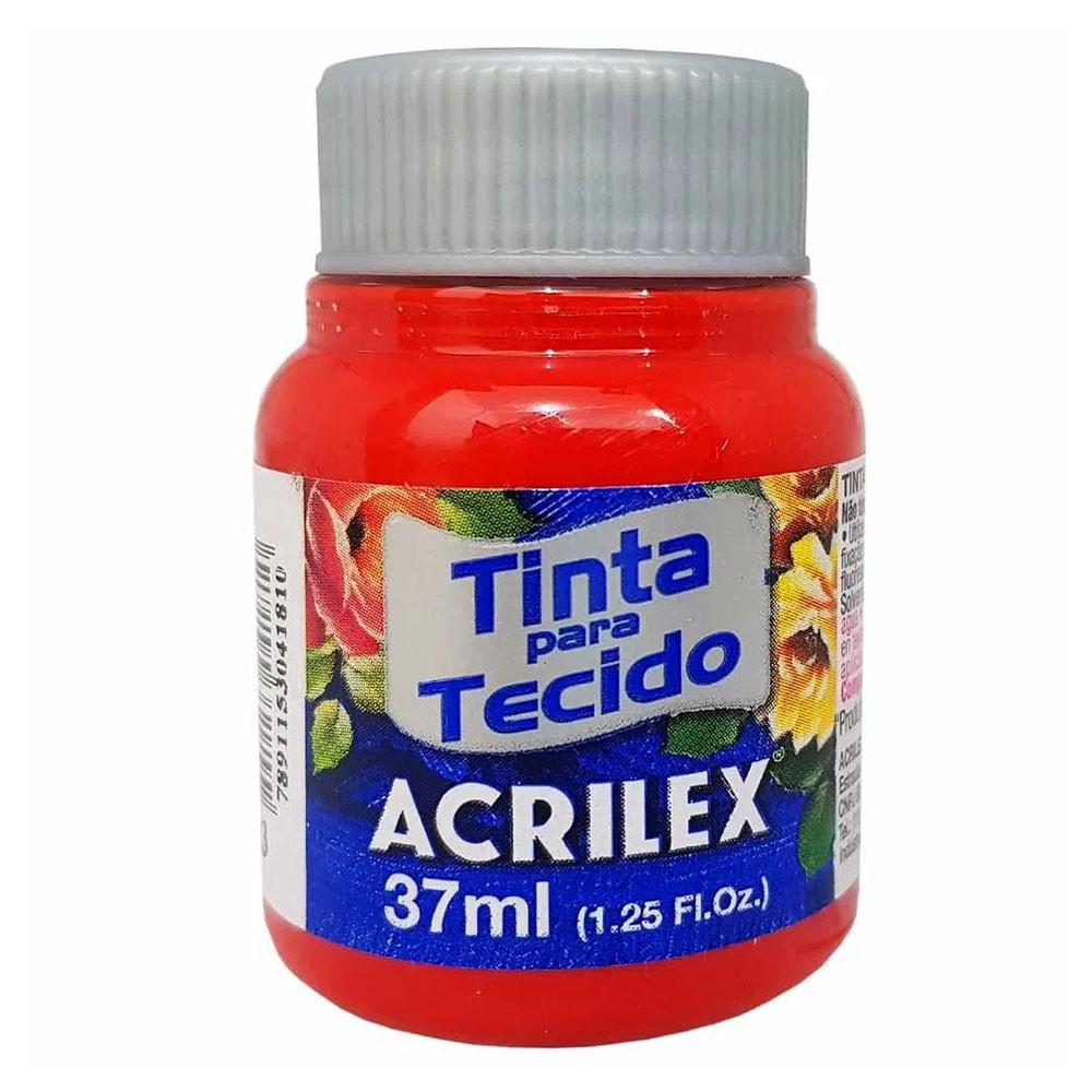 Tinta para Tecido Vermelho Tomate 37ml Acrilex