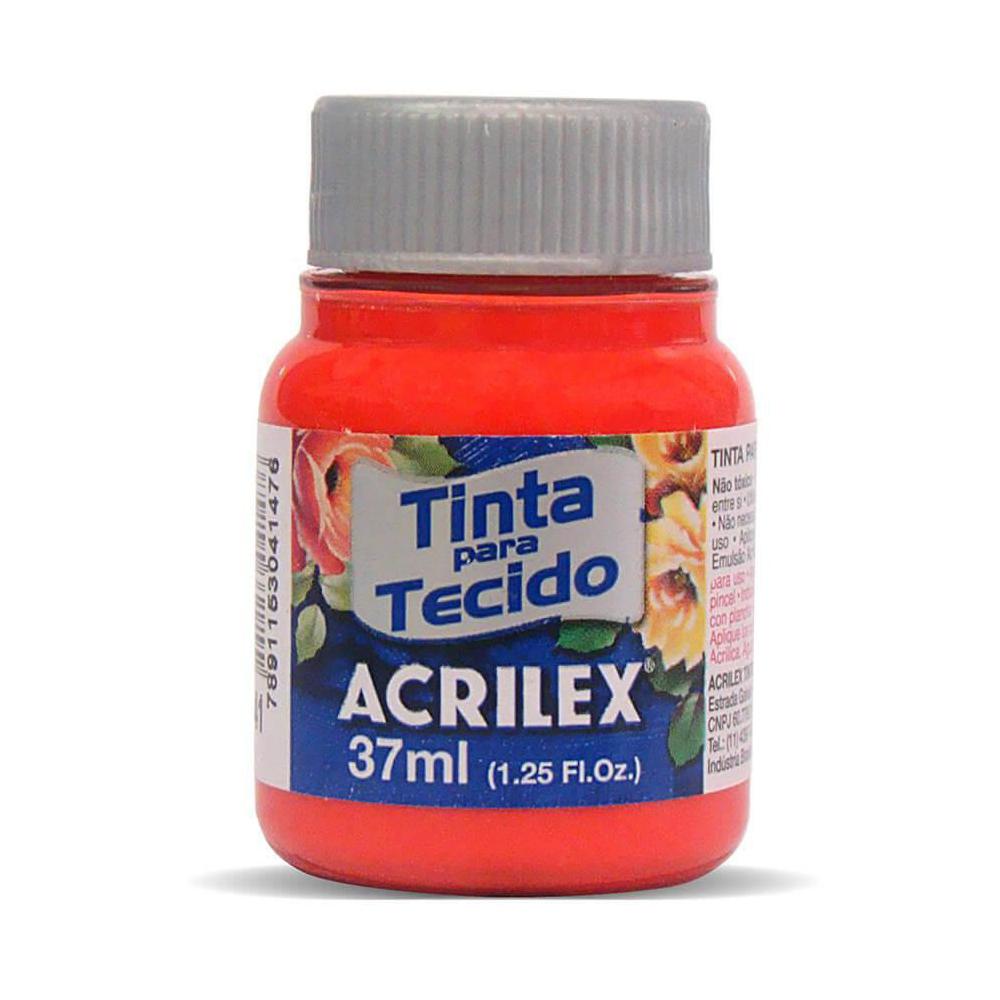 Tinta para Tecido Vermelho Vivo 37ml Acrilex