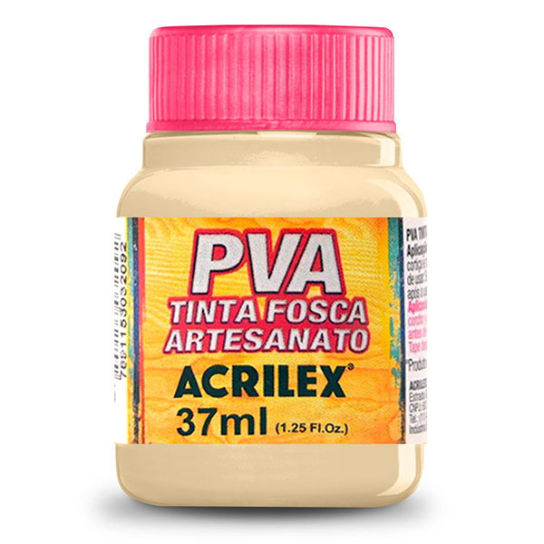 Tinta PVA para Artesanato Amarelo Pele 37ml Acrilex
