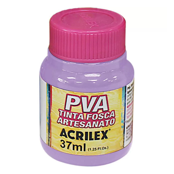 Tinta PVA para Artesanato Lilás 37ml Acrilex