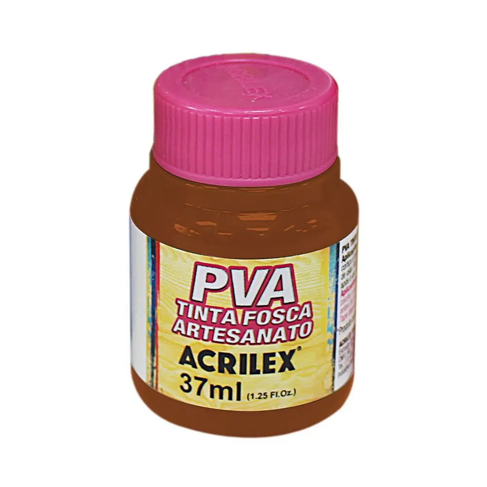 Tinta PVA para Artesanato Marrom 37ml Acrilex