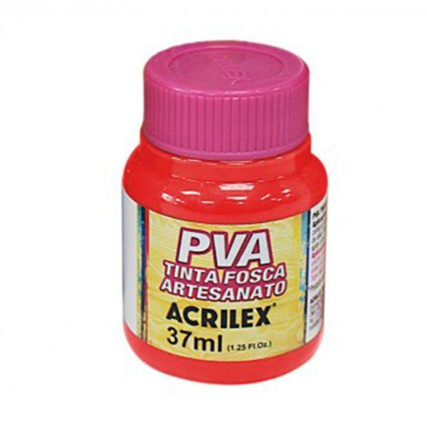 Tinta PVA para Artesanato Vermelho Fogo 37ml Acrilex