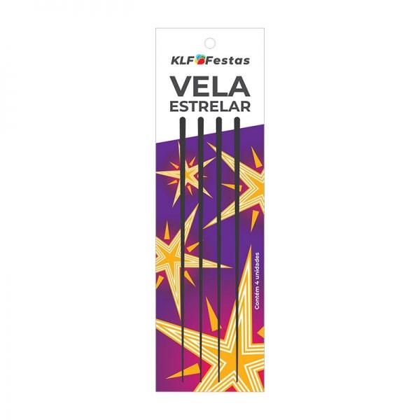 Vela Estrelar 4 unidades KLF Festas