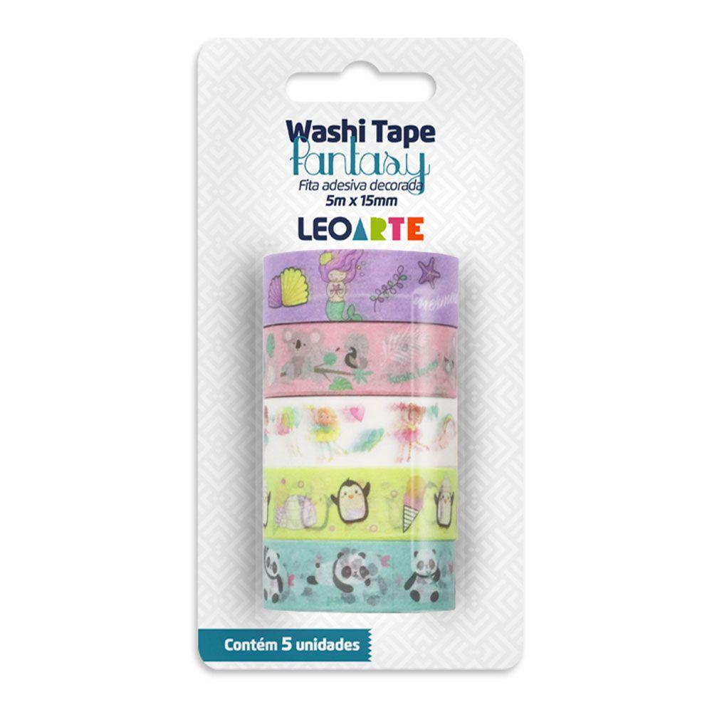Washi Tape Fantasy 5m x 15mm 5 Unidades Leoarte
