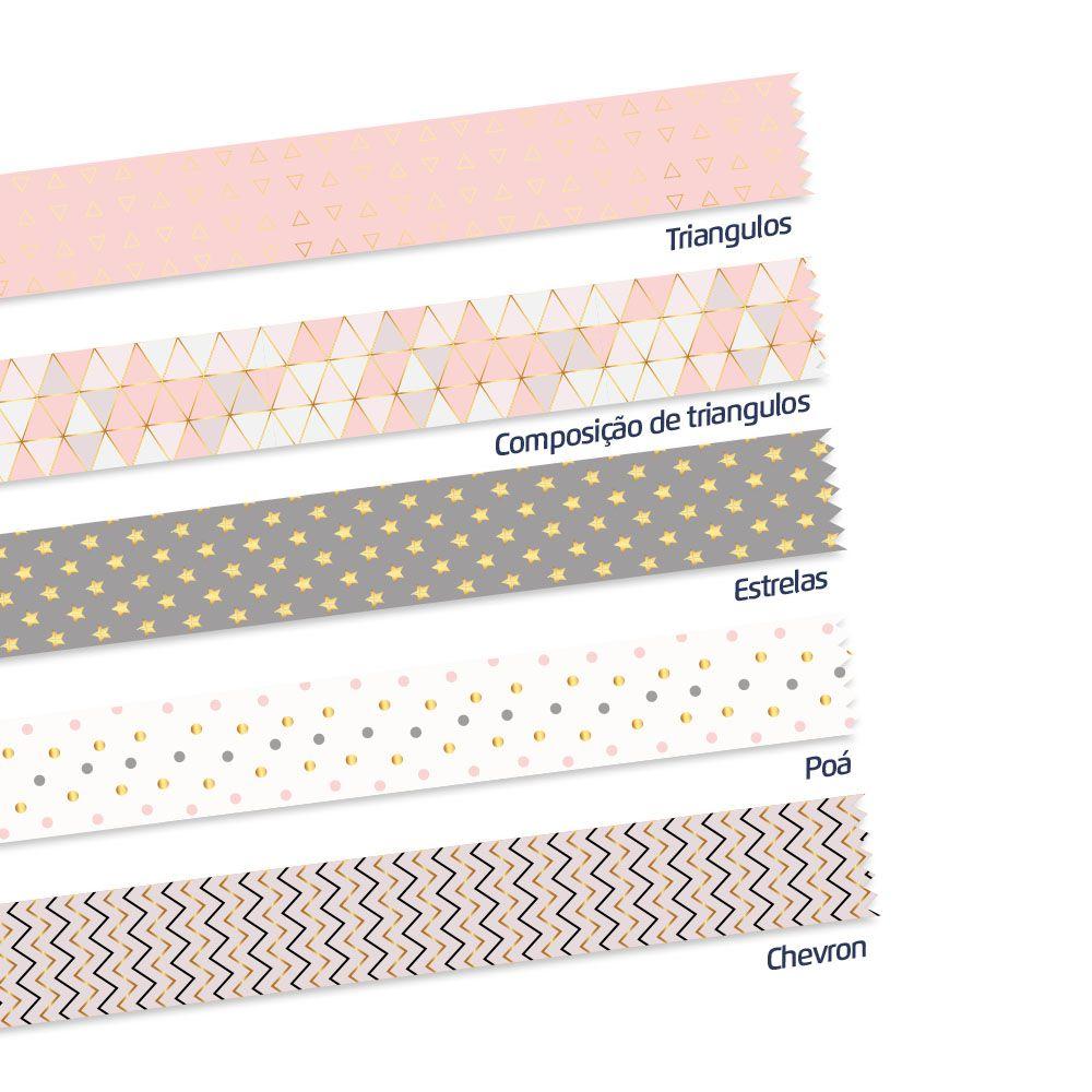 Washi Tape Geometric 5m x 15mm 5 Unidades Leoarte