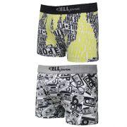 Boxer Jovem Microfibra Estampada C/2 Gell Underwear