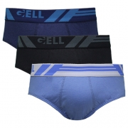 Slip Jovem Algodão kit c/03 Gell Underwear