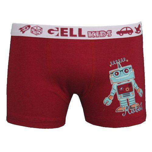 Boxer Kids Cotton Silk Que Brilha C/1 Gell Underwear