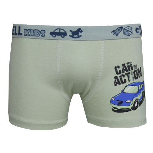 Boxer Kids Cotton Silk Que Brilha C/1 Gell Underwear