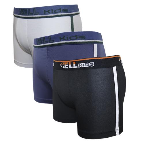 Boxer Kids Microfibra C/3 Gell Underwear