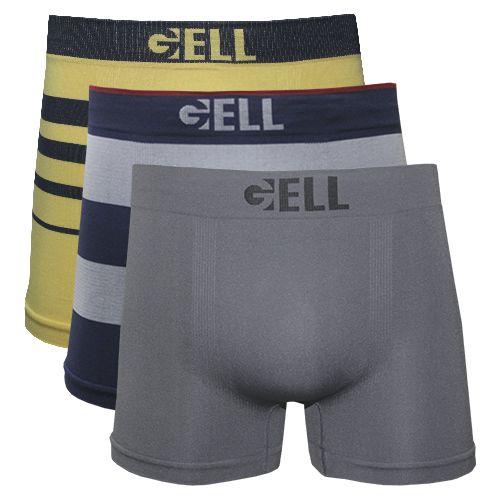 Boxer Sem Costura Gell Underwear kit c/03