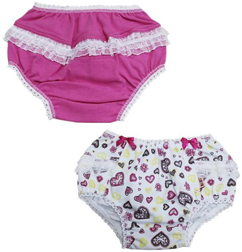Calcinha Baby Cotton com Babado You Lingerie c/02