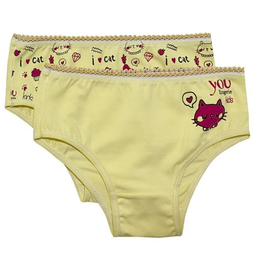 Calcinha Kids Cotton com Silk C/2 You Lingerie