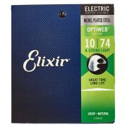 ENCORDOAMENTO 010 LIGHT PARA GUITARRA 8 CORDAS OPTIWEB 19062 - ELIXIR
