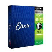ENCORDOAMENTO 0.09 SUPER LIGHT P/ GUITARRA OPTIWEB 19002 - ELIXIR