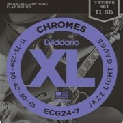 ENCORDOAMENTO GUITARRA FLAT CHROMES 7 CHROMES ECG24-7 011 - DADDARIO