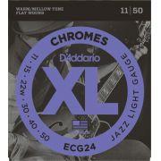 ENCORDOAMENTO GUITTARRA FLAT CHROMES ECG24 011 - DADDARIO