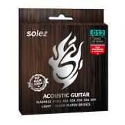 Encordoamento para violão aço Silver Plated Bronze - SLASPB12 - SOLEZ