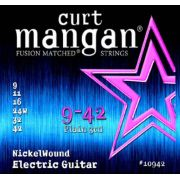 Kit com 3 Encordoamentos Guitarra 09-42 NickelWound - CURT MANGAN