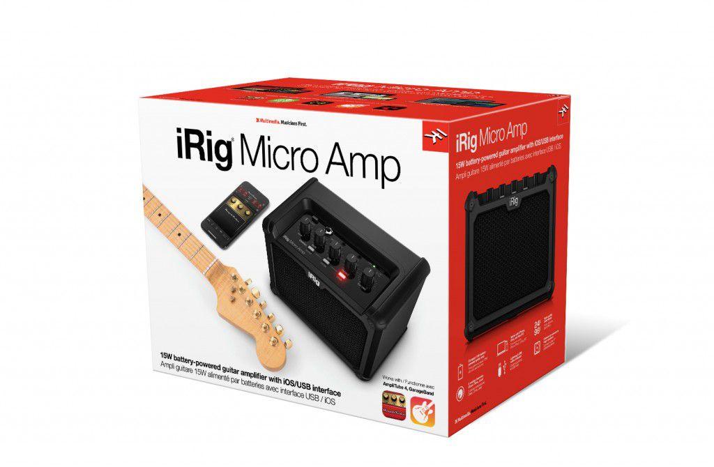 Amplificador de guitarra de 15W C/ interface iRig Micro Amp - IK MULTIMEDIA