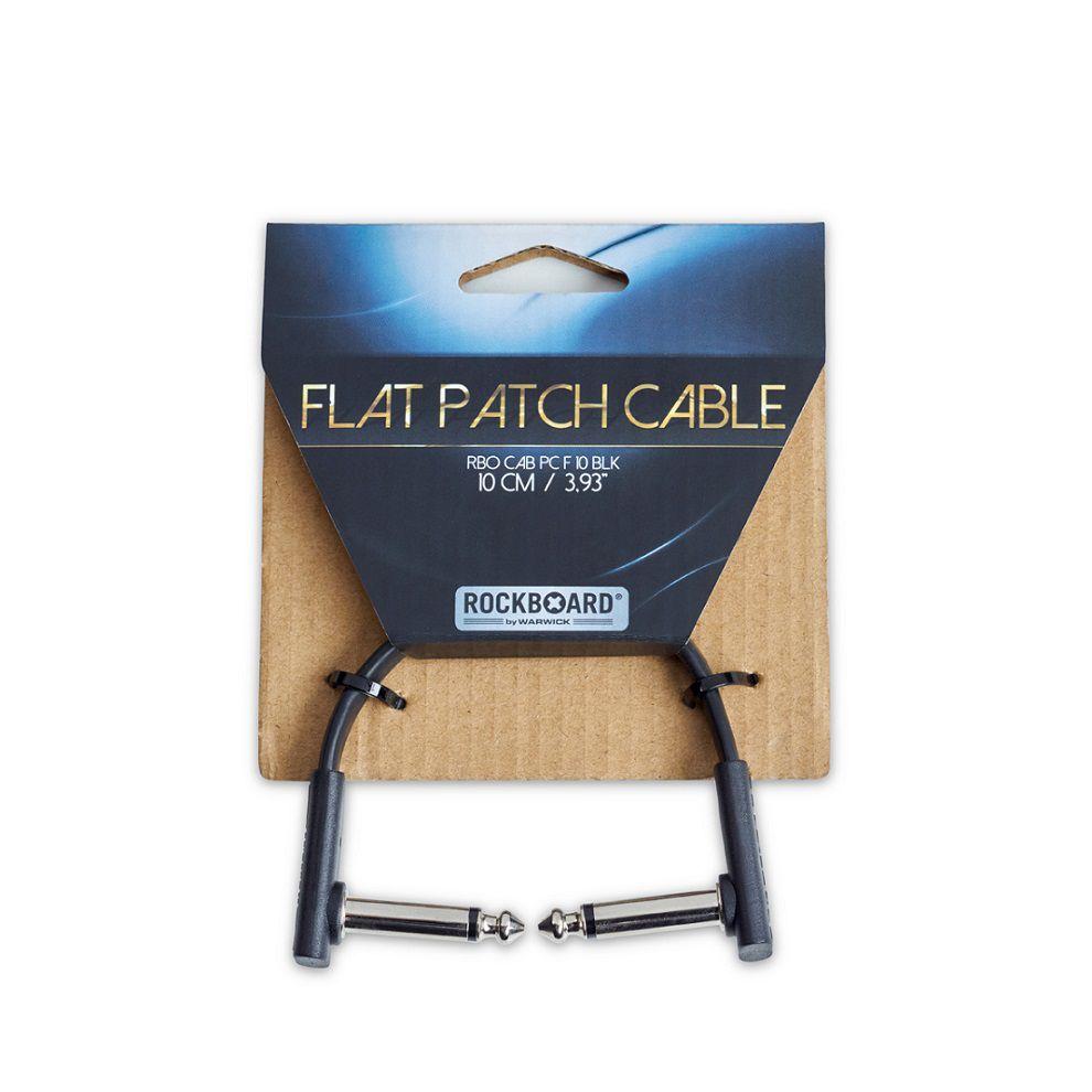 CABO P/ PEDAL 10CM FLAT PATCH CABLE RBOCABPCF10BLK - ROCKBOARD
