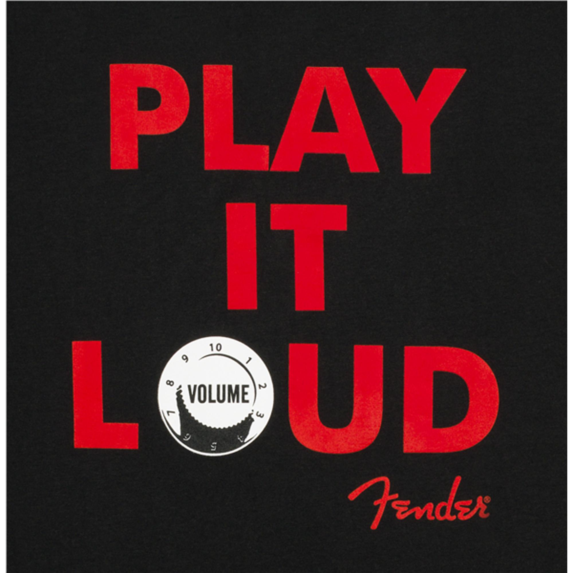 CAMISETA PLAY IT LOUD PRETA M - FENDER