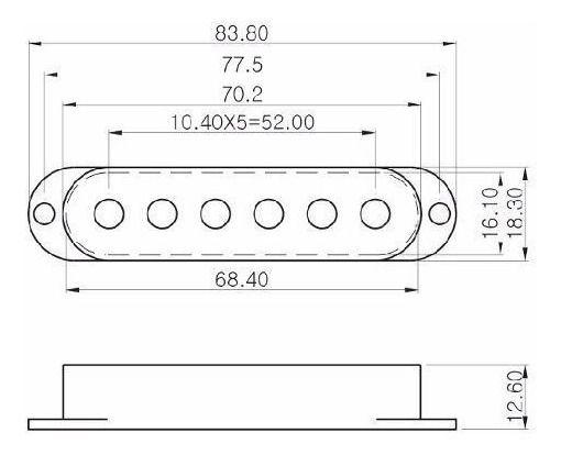 CAPA CAPTADOR SINGLE P/ STRATOCASTER VERDE C/3 G352 - SPIRIT