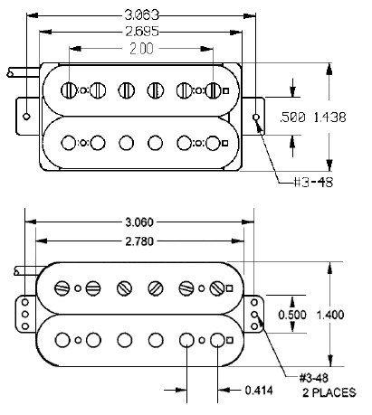 Captador humbucker 59 Model Blk 4-Conductor 11101-01-4c SH-1n BrACO- SEYMOUR DUNCAN