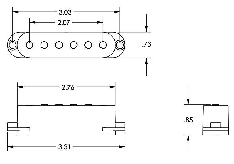 Captador Humbucker Custom Stack Plus Wht 11203-16-Wc STK-S6 - SEYMOUR DUNCAN