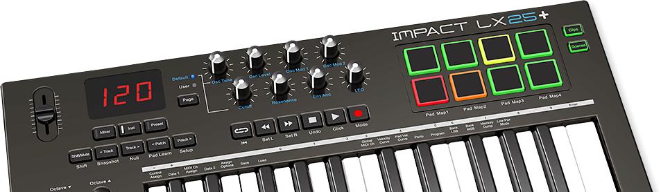 CONTROLADOR MIDI 25 TECLAS IMPACT LX25+ - NEKTAR