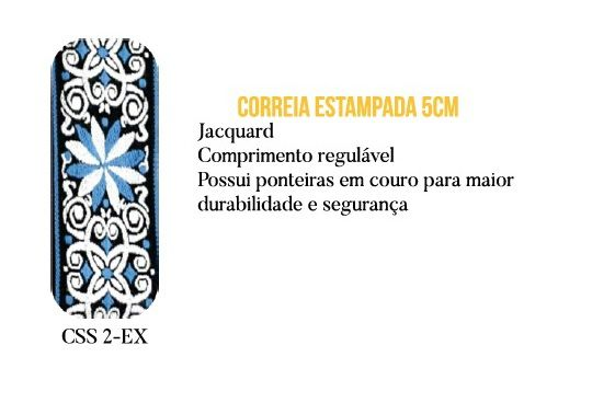 CORREIA P/ VIOLAO E GUITARRA  AZUL CSS 2 - EX - CUSTOM SOUND