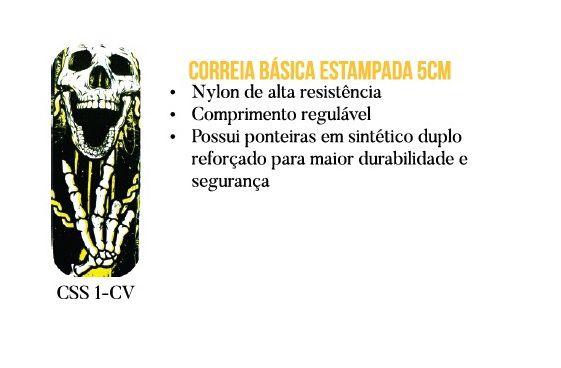 CORREIA P/ VIOLÃO E GUITARRA CAVEIRA CSS 1 - CV CUSTOM SOUND