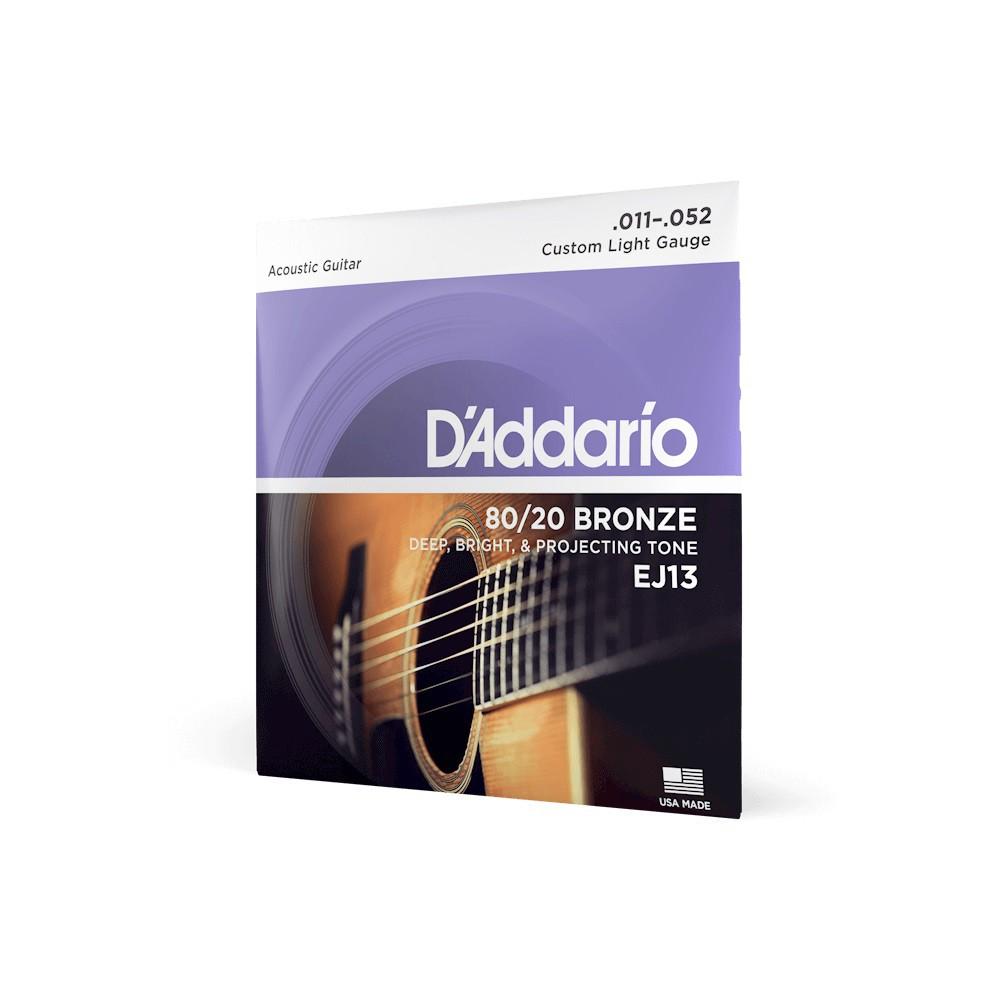 ENCORDOAMENTO 11 / 52 VIOLÃO AÇO LIGHT EJ13-B - DADDARIO