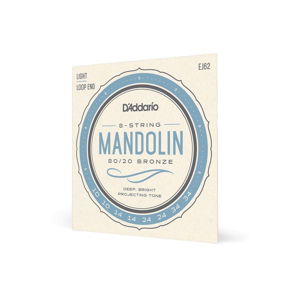 ENCORDOAMENTO MANDOLIM 8 CORDAS LEVE EJ62 - DADDARIO