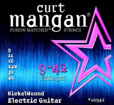 Encordoamento Guitarra 09-42 NickelWound - CURT MANGAN
