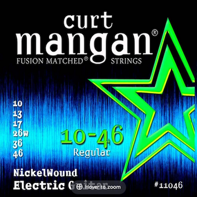 Encordoamento Guitarra 10-46 NickelWound - CURT MANGAN