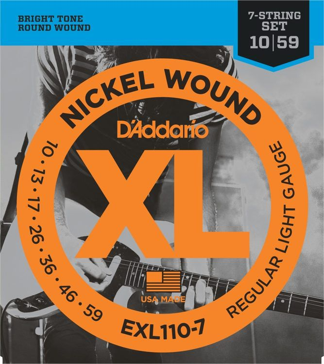 ENCORDOAMENTO GUITARRA 7 CORDAS EXL110-7 010 - DADDARIO