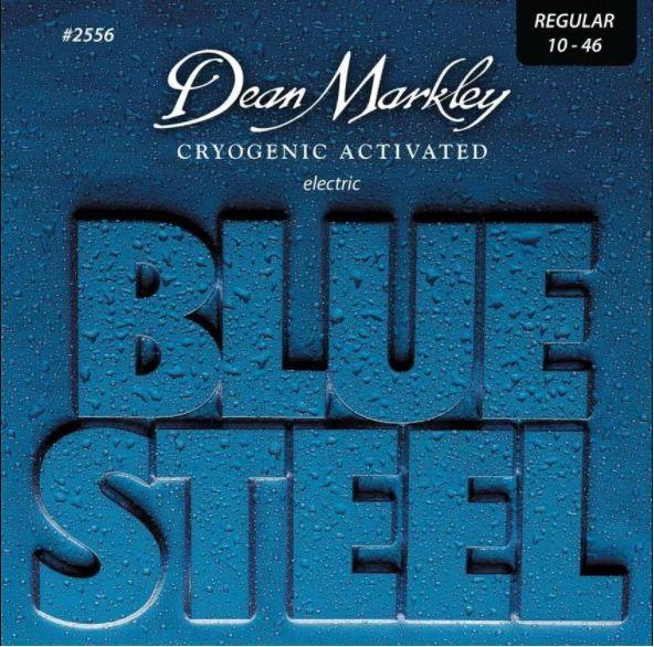 ENCORDOAMENTO GUITARRA BLUE STEEL, REGULAR 10-46 2556 - DEAN MARKLEY