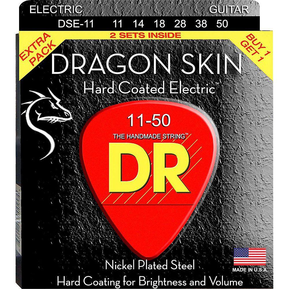 ENCORDOAMENTO GUITARRA DRAGON SKIN PACK DUPLO 0.11 DSE2-11 - DR STRINGS