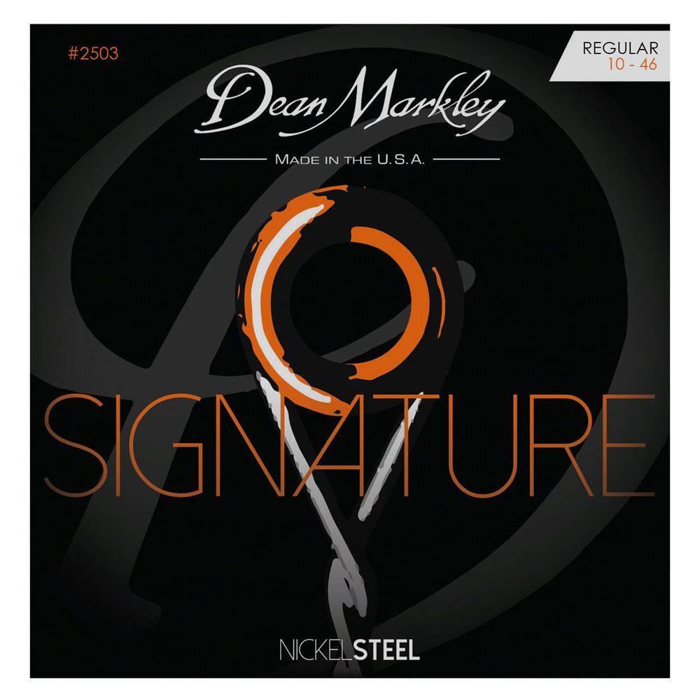 ENCORDOAMENTO GUITARRA SIGNATURE SERIES, NICKEL STEEL, REGULAR 10, 46 2503 - DEAN MARKLEY